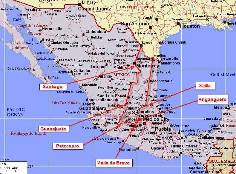 Moto Madness 2008 – Mexico Travel Destinations Map